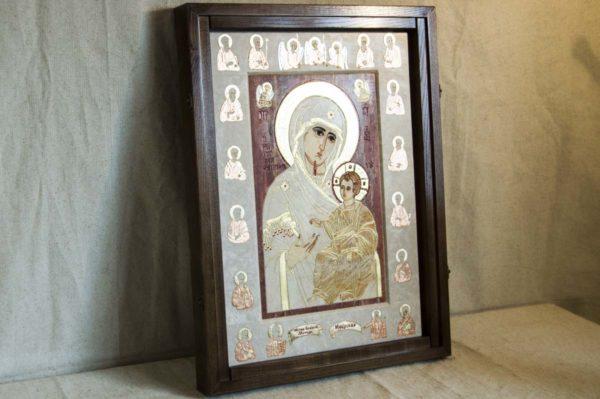 Икона Иверской Божией Матери № 1-25-3 из мрамора, камня, от Гливи, фото 3