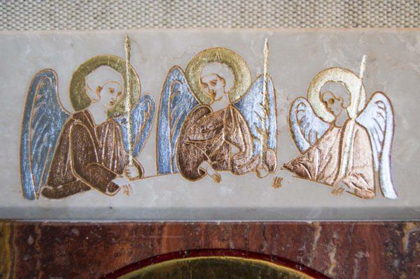 Икона Иверской Божией Матери № 1-25-3 из мрамора, камня, от Гливи, фото 7