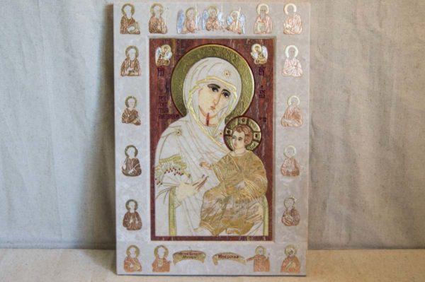 Икона Иверской Божией Матери № 1-25-3 из мрамора, камня, от Гливи, фото 9