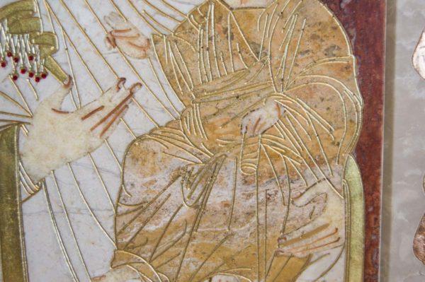 Икона Иверской Божией Матери № 1-25-3 из мрамора, камня, от Гливи, фото 8