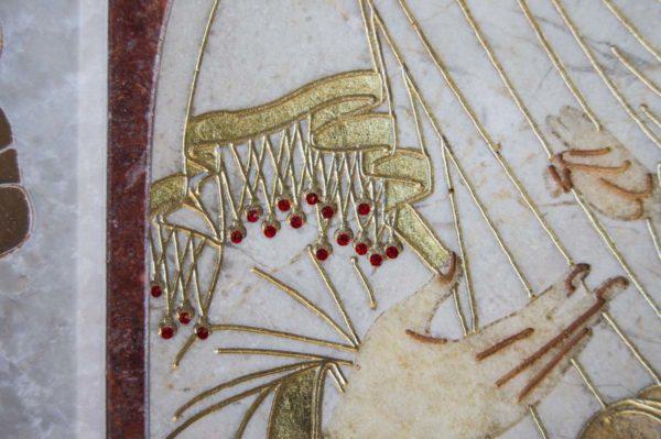 Икона Иверской Божией Матери № 1-25-3 из мрамора, камня, от Гливи, фото 11