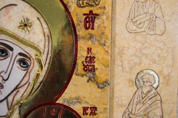 Икона Иверской Божией Матери № 1-25-6 из мрамора, камня, от Гливи, фото 14