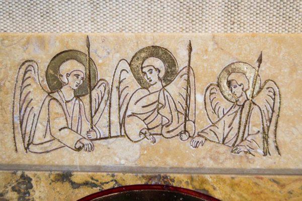 Икона Иверской Божией Матери № 1-25-6 из мрамора, камня, от Гливи, фото 10
