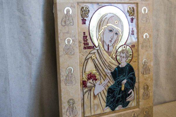 Икона Иверской Божией Матери № 1-25-6 из мрамора, камня, от Гливи, фото 11
