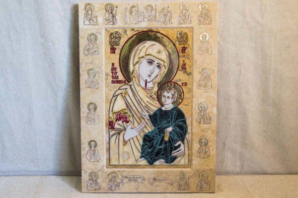 Икона Иверской Божией Матери № 1-25-6 из мрамора, камня, от Гливи, фото 1