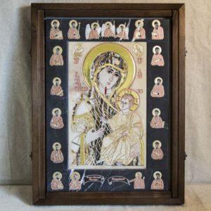 Икона Иверской Божией Матери № 1-25-8 из мрамора, камня, от Гливи, фото 3