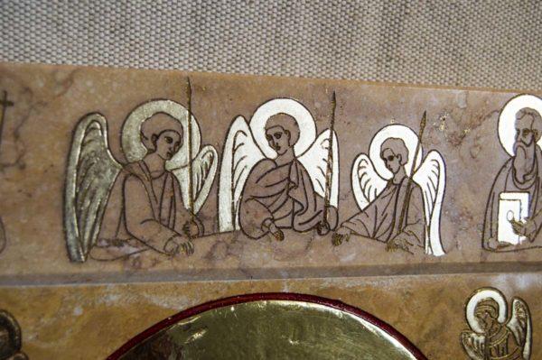Икона Иверской Божией Матери № 1-25-9 из мрамора, камня, от Гливи, фото 3