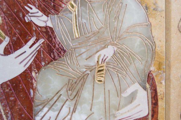 Икона Иверской Божией Матери № 1-25-9 из мрамора, камня, от Гливи, фото 14
