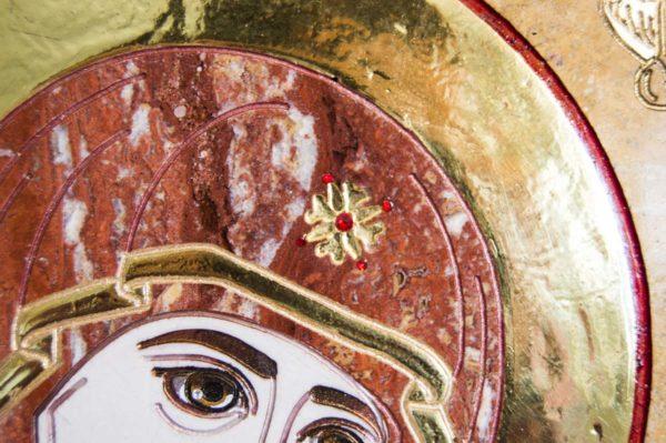 Икона Иверской Божией Матери № 1-25-9 из мрамора, камня, от Гливи, фото 15
