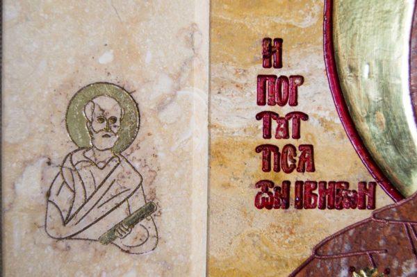 Икона Иверской Божией Матери № 1-25-9 из мрамора, камня, от Гливи, фото 12