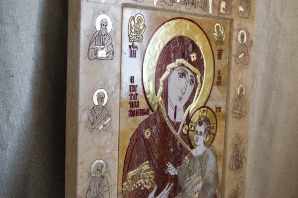 Икона Иверской Божией Матери № 1-25-9 из мрамора, камня, от Гливи, фото 5