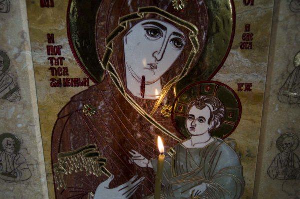 Икона Иверской Божией Матери № 1-25-9 из мрамора, камня, от Гливи, фото 10