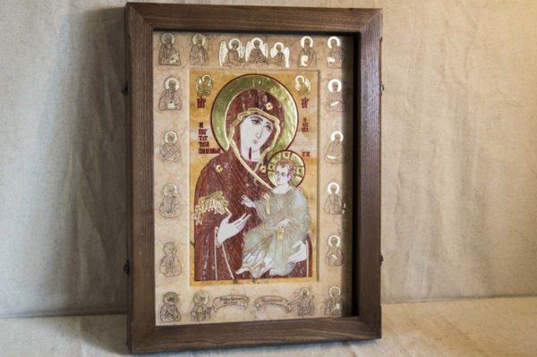 Икона Иверской Божией Матери № 1-25-9 из мрамора, камня, от Гливи, фото 13