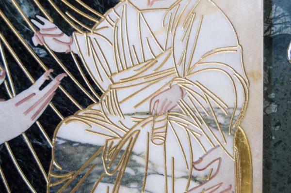 Икона Иверской Божией Матери № 1-25-10 из мрамора, камня, от Гливи, фото 12