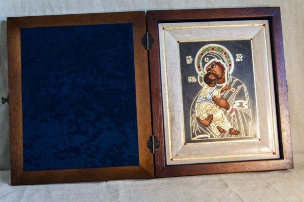 Икона Владимирской Божией Матери № 1-1 из мрамора, камня, от Гливи, фото 5