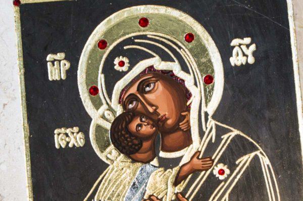 Икона Владимирской Божией Матери № 1-1 из мрамора, камня, от Гливи, фото 2