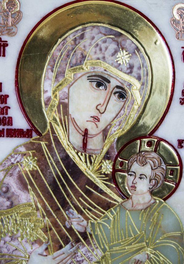 Икона Иверской Божией Матери Без № из мрамора, камня, от Гливи, фото 6