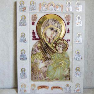 Икона Иверской Божией Матери Без № из мрамора, камня, от Гливи, фото 7