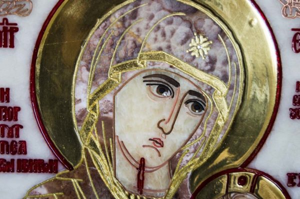 Икона Иверской Божией Матери Без № из мрамора, камня, от Гливи, фото 5