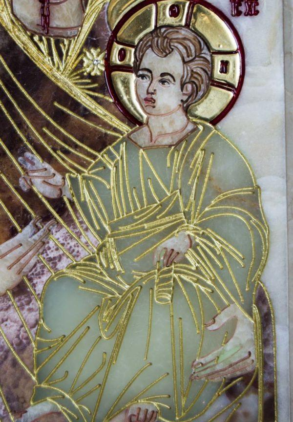 Икона Иверской Божией Матери Без № из мрамора, камня, от Гливи, фото 4