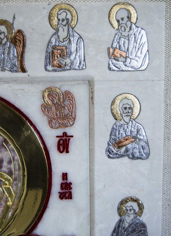 Икона Иверской Божией Матери Без № из мрамора, камня, от Гливи, фото 2