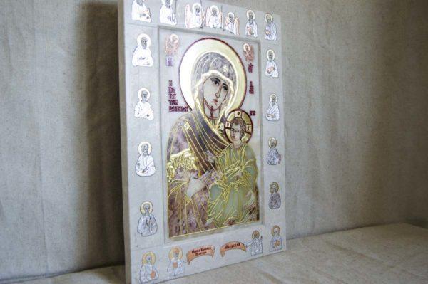 Икона Иверской Божией Матери Без № из мрамора, камня, от Гливи, фото 1