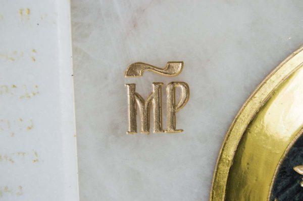 Икона Владимирской Божией Матери № 2-12-3 из мрамора, камня, от Гливи, фото 4