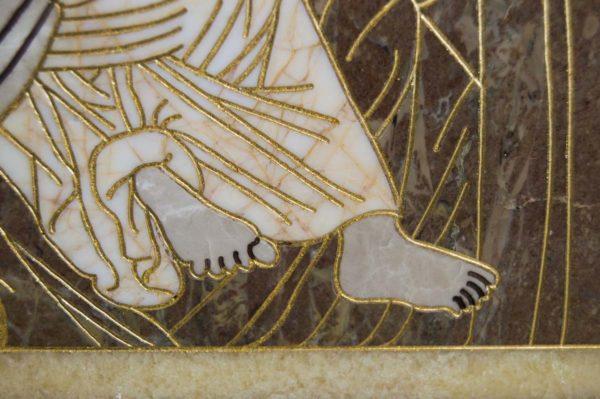 Икона Владимирской Божией Матери № 2-12-4 из мрамора, камня, от Гливи, фото 8