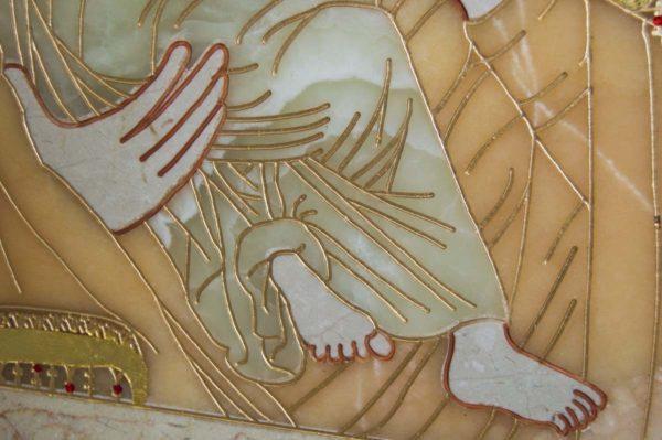 Икона Владимирской Божией Матери № 2-12-8 из мрамора, камня, от Гливи, фото 8