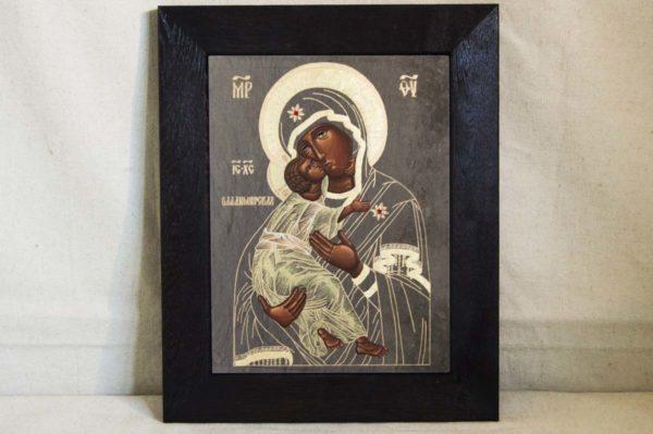 Икона Владимирской Божией Матери № 1-2 из мрамора, камня, от Гливи, фото 1