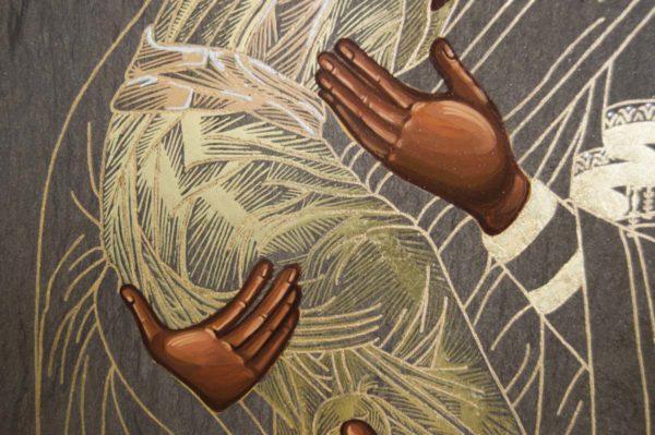 Икона Владимирской Божией Матери № 1-2 из мрамора, камня, от Гливи, фото 3