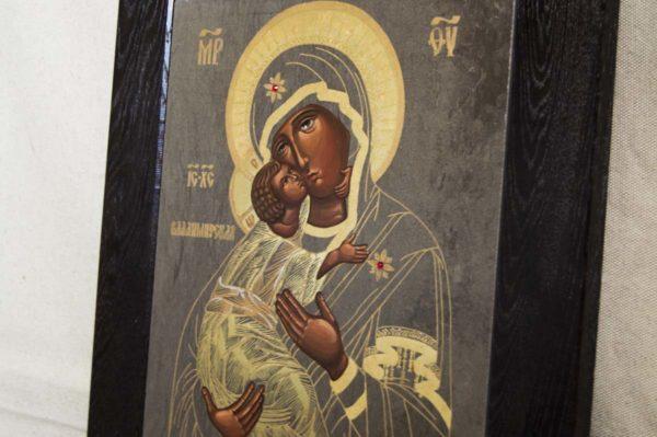 Икона Владимирской Божией Матери № 1-2 из мрамора, камня, от Гливи, фото 4