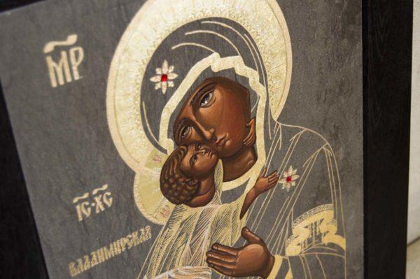 Икона Владимирской Божией Матери № 1-2 из мрамора, камня, от Гливи, фото 5