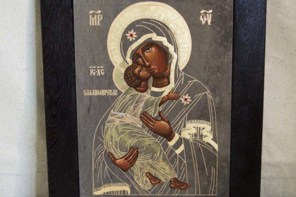 Икона Владимирской Божией Матери № 1-2 из мрамора, камня, от Гливи, фото 6