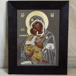 Икона Владимирской Божией Матери № 1-3 из мрамора, камня, от Гливи, фото 1