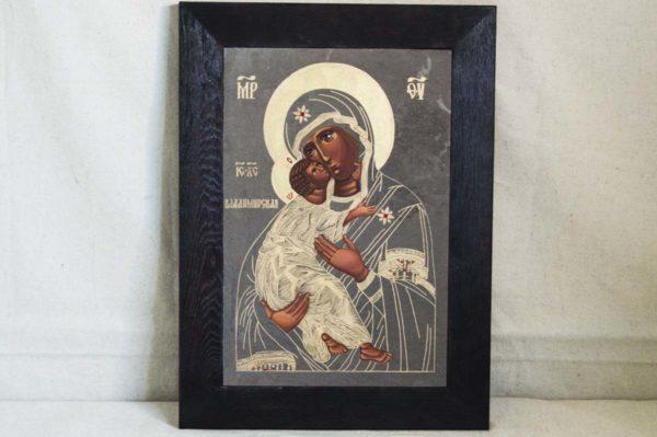 Икона Владимирской Божией Матери № 1-4 из мрамора, камня, от Гливи, фото 1
