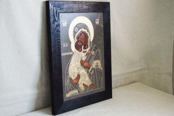 Икона Владимирской Божией Матери № 1-4 из мрамора, камня, от Гливи, фото 2