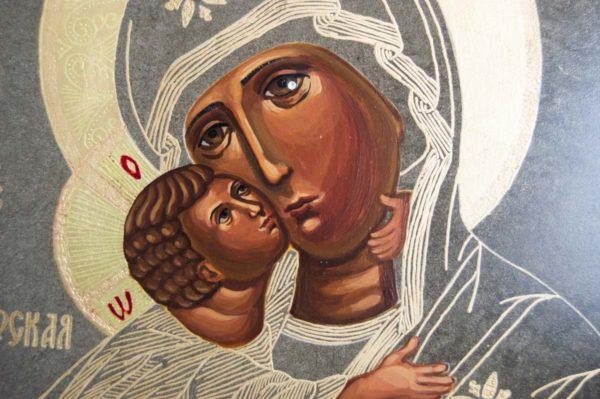 Икона Владимирской Божией Матери № 1-4 из мрамора, камня, от Гливи, фото 3
