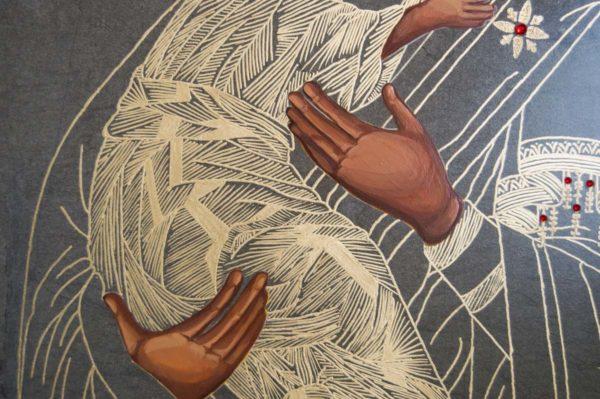 Икона Владимирской Божией Матери № 1-4 из мрамора, камня, от Гливи, фото 4