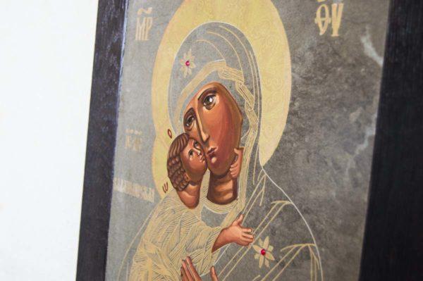 Икона Владимирской Божией Матери № 1-4 из мрамора, камня, от Гливи, фото 7