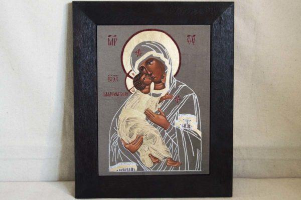 Икона Владимирской Божией Матери № 1-5 из мрамора, камня, от Гливи, фото 1