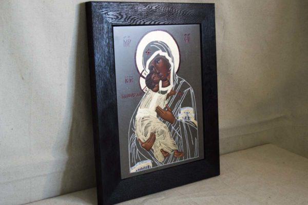 Икона Владимирской Божией Матери № 1-5 из мрамора, камня, от Гливи, фото 2