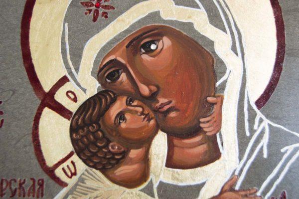 Икона Владимирской Божией Матери № 1-5 из мрамора, камня, от Гливи, фото 3