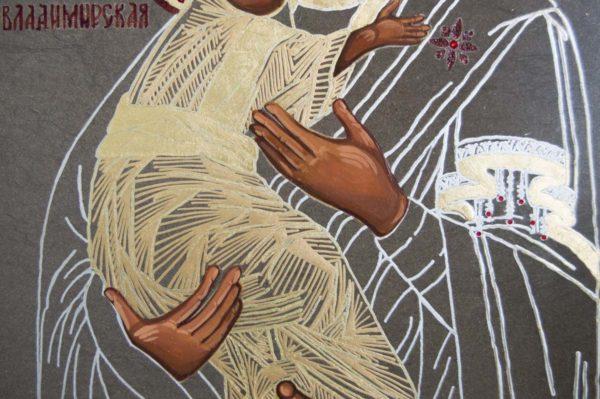 Икона Владимирской Божией Матери № 1-5 из мрамора, камня, от Гливи, фото 4