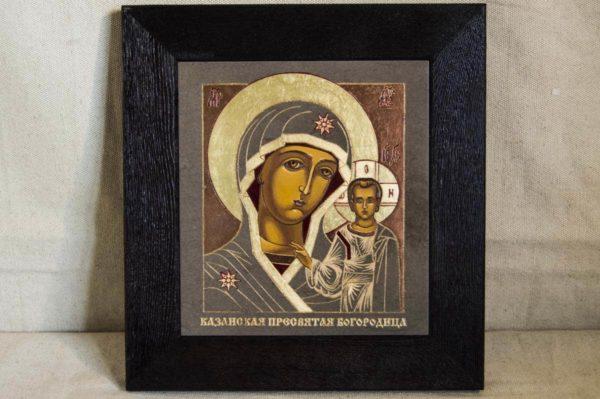 Икона Казанской Божией Матери № 1-07 подарочная из мрамора, камня, от Гливи, фото 1