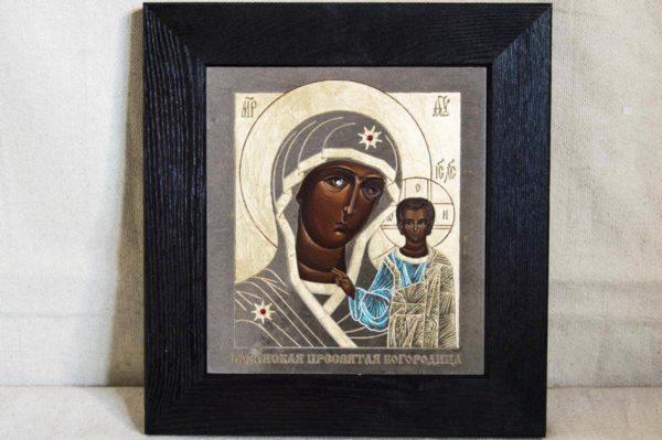 Икона Казанской Божией Матери № 1-08 подарочная из мрамора, камня, от Гливи, фото 1