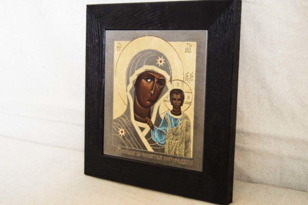 Икона Казанской Божией Матери № 1-08 подарочная из мрамора, камня, от Гливи, фото 3