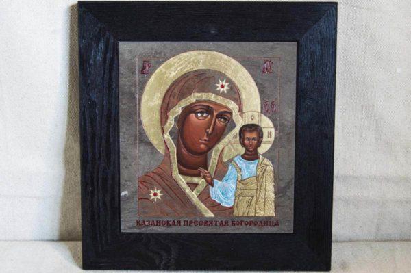 Икона Казанской Божией Матери № 1-09 подарочная из мрамора, камня, от Гливи, фото 1