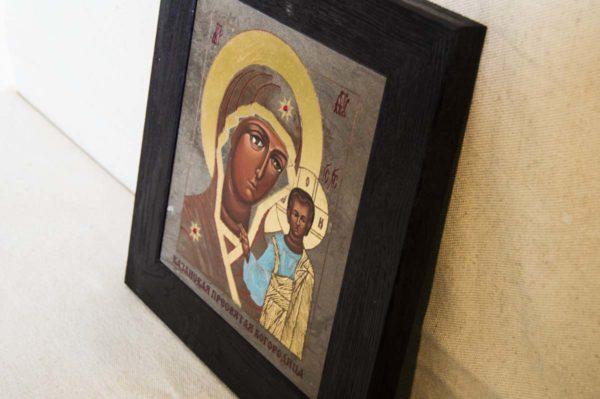 Икона Казанской Божией Матери № 1-09 подарочная из мрамора, камня, от Гливи, фото 4