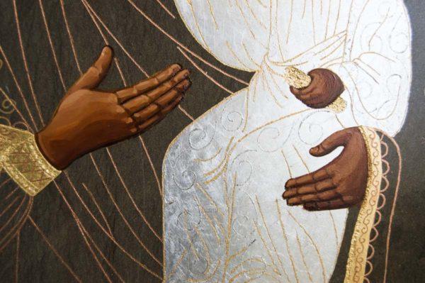 Икона Смоленской Божией Матери № 1-01 подарочная из мрамора, камня, изображение, фото 4